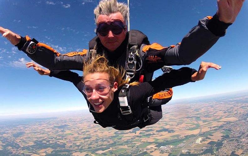 saut en parachute km/h